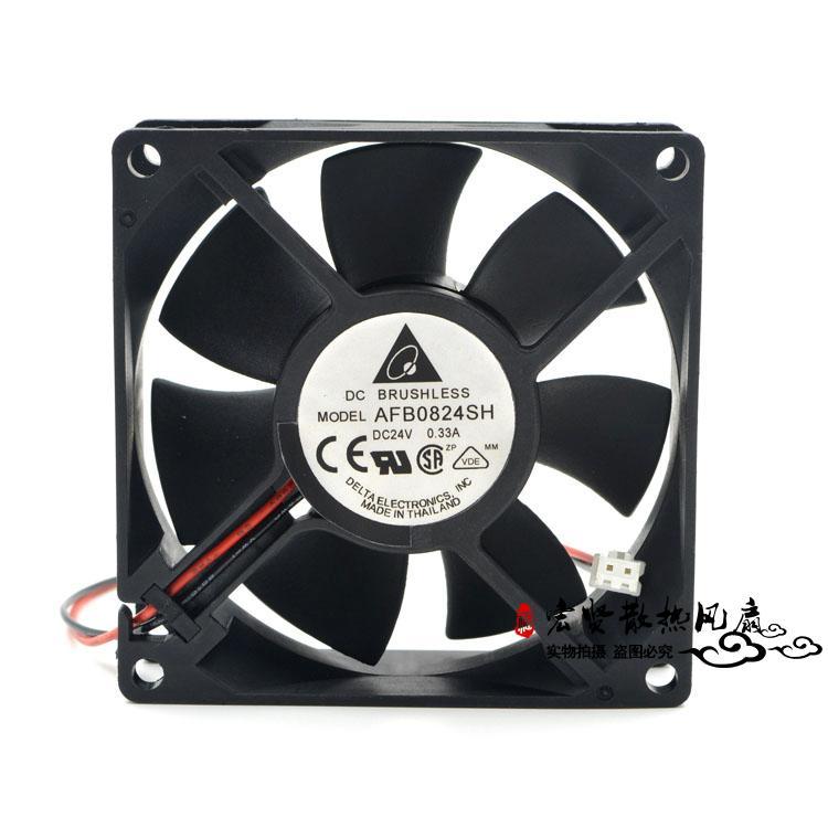 台达 AFB0824SH 8025 24V 0.33A 8CM大风量测速双滚珠变频器风扇