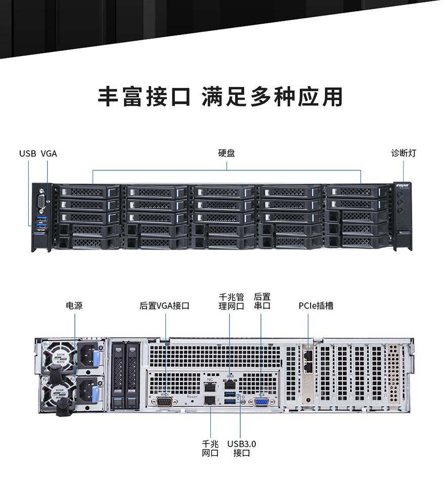 浪潮英信服务器NF5270M5 2U机架式服务器 Intel Xeon 4210 2.2G 10C/MEM 16G DDR4 2933 ECC/HDD_2T_SATA6Gbps_7.2Krpm