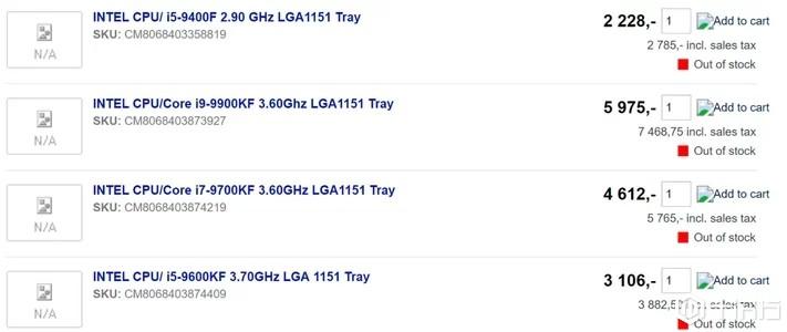 小道消息,英特尔即将推出6款没有集成UHD显卡的新CPU