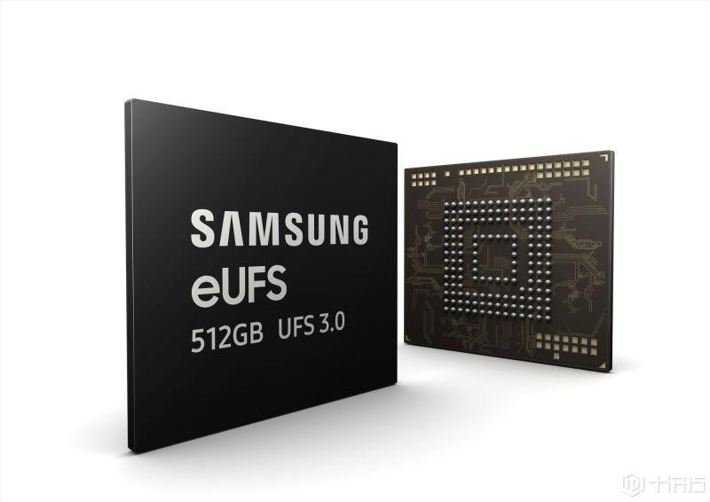 全球首发:限量三星512GB eUFS3.0闪存芯片 读写速度最高可达2100MB/s ...