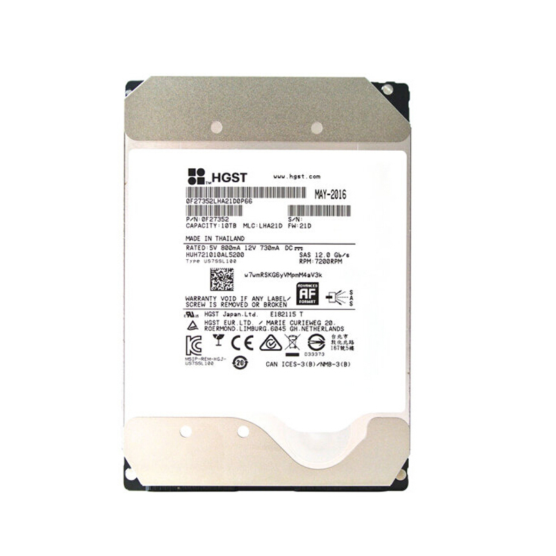 HGST HUH721010AL5200 10T SAS 7200RPM HDD 企业级机械硬盘