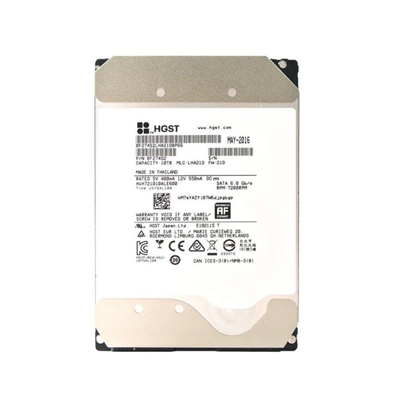 HGST HUH721010ALE600 10T SATA 7200RPM HDD 企业级机械硬盘