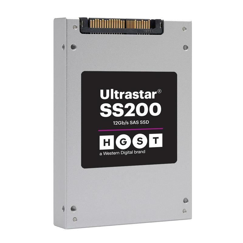 HGST SDLL1DLR-400G-CAA1 HGST SS200  400G 3DWD SAS SSD 混合应用型