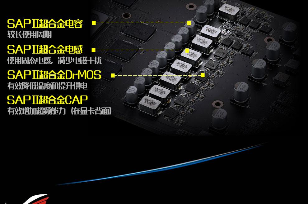 华硕 ROG-STRIX-RX580-O8G-GAMING PCI3.0  GDDR5 猛禽系列 显卡