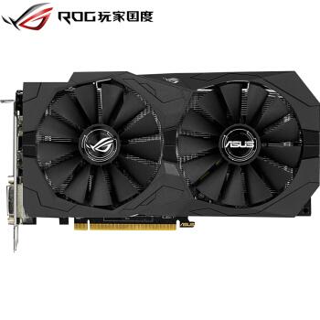 华硕 ROG-STRIX-RX570-O4G-GAMING 1300-1310MHz 256bit 7000MHz GDDR5 猛禽双风扇 显卡