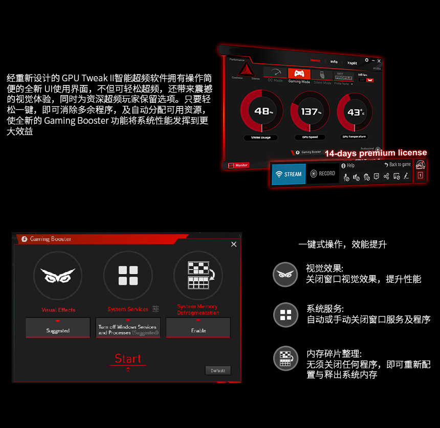 华硕 EX-RX570-O4G 4G 1270MHz/6600MHz/256bit DDR5 长征版 电脑显卡