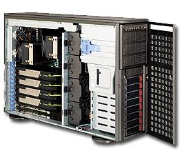 其他 747BTQ-R1K62B supermicro 美超微747BTQ-R1K62B 机箱+电源+GPU散热风扇