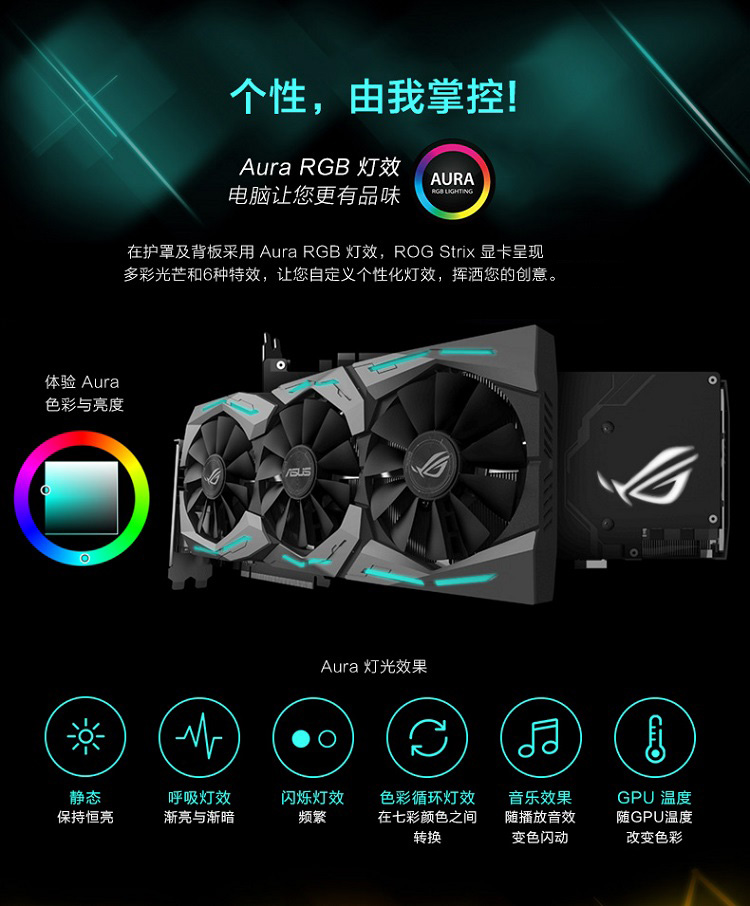 华硕 STRIX-GTX1060-O6G-GAMING 1645-1873MHz 8GHz GDDR5 猛禽电脑显卡