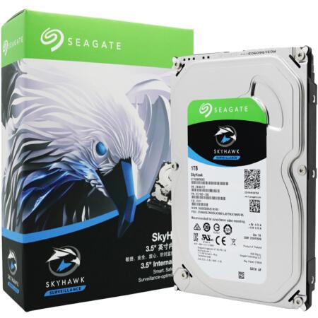 希捷(SEAGATE)酷鹰系列 1TB 5900转64M SATA3 监控级硬盘(ST1000VX005)