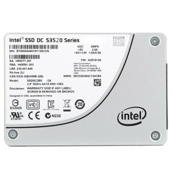 英特尔(Intel) DC S3520数据中心SSD固态硬盘MLC颗粒SATA3接口 S3520 800G