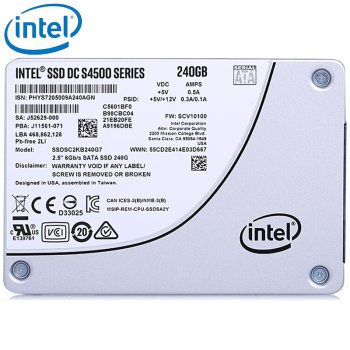 英特尔(Intel) S4500数据中心企业级固态硬盘SATA3 S4500 240G