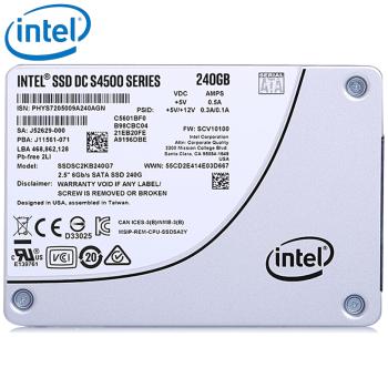 英特尔(Intel) S4500数据中心企业级固态硬盘SATA3 S4500 480G