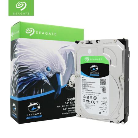 希捷(SEAGATE)酷鹰系列 6TB 5400转256M SATA3 监控级硬盘(ST6000VX001)